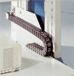 E-Z Chain Cable Carrier used in office furniture