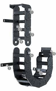 38mm Minimum Bend Radius Igus Series-15 CABLE CHAIN 36mmx24mmx1m Igumid G