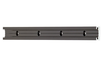 drylin® N guide rail, size 17, black for anti-reflection