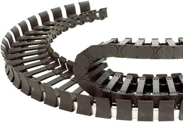 twisterchain® Series 3808, energy chain, openable along the inner and outer radius