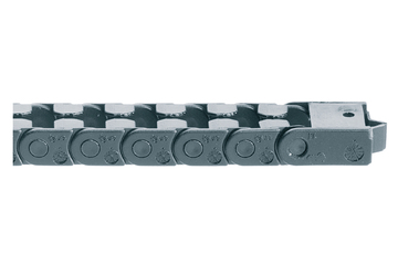 easy chain® Series E03, energy chain, to be filled at the outer radius