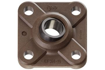 High-temperature flange bearings with 4 mounting holes, EFSM-HT, igubal®, spherical ball iglide® T500