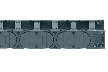 Series E4.56, energy chain with crossbars every link, robust version, snap-open along both sides