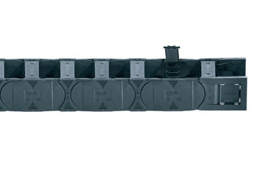 Series E4.31L, energy chain with crossbars openable along the inner and outer radius, from both sides