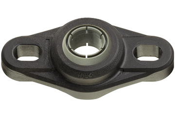 Flange bearings with 2 mounting holes, EFOM, igubal®, spherical ball iglide® J4V