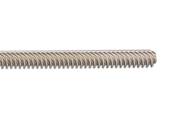 drylin® lead screw, dryspin® high helix thread, left-hand thread, 1.4301 (304) stainless steel