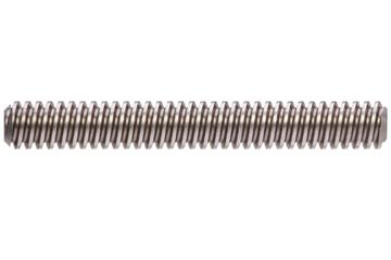 drylin® trapezoidal lead screw, left-hand thread, C15 1.0401 (1015 carbon) steel