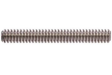 drylin® trapezoidal lead screw, left-hand thread, two start, C15 1.0401 (1015 carbon) steel