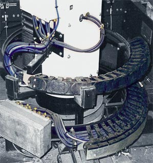 TwisterChain cable carrier in spiralling application