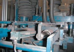 Linear Bearings in a Fill Shoe Mechanism on a Powder Press