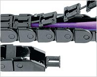 Zipper chain cable carrier