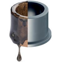 Plastic bushings replace bronze bearings