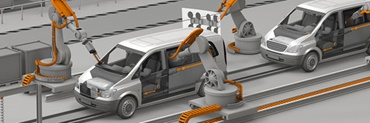 Automotive production with triflex® R e-chains® on robots