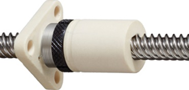 Zero-backlash nut for dryspin® high-helix nut